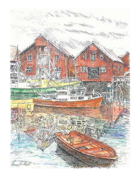 Architecture Print - Fjord in Norway #067