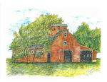 Barn Art - Red Barn #070