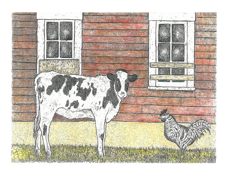 Animal Print - Calf and Chicken Color #072