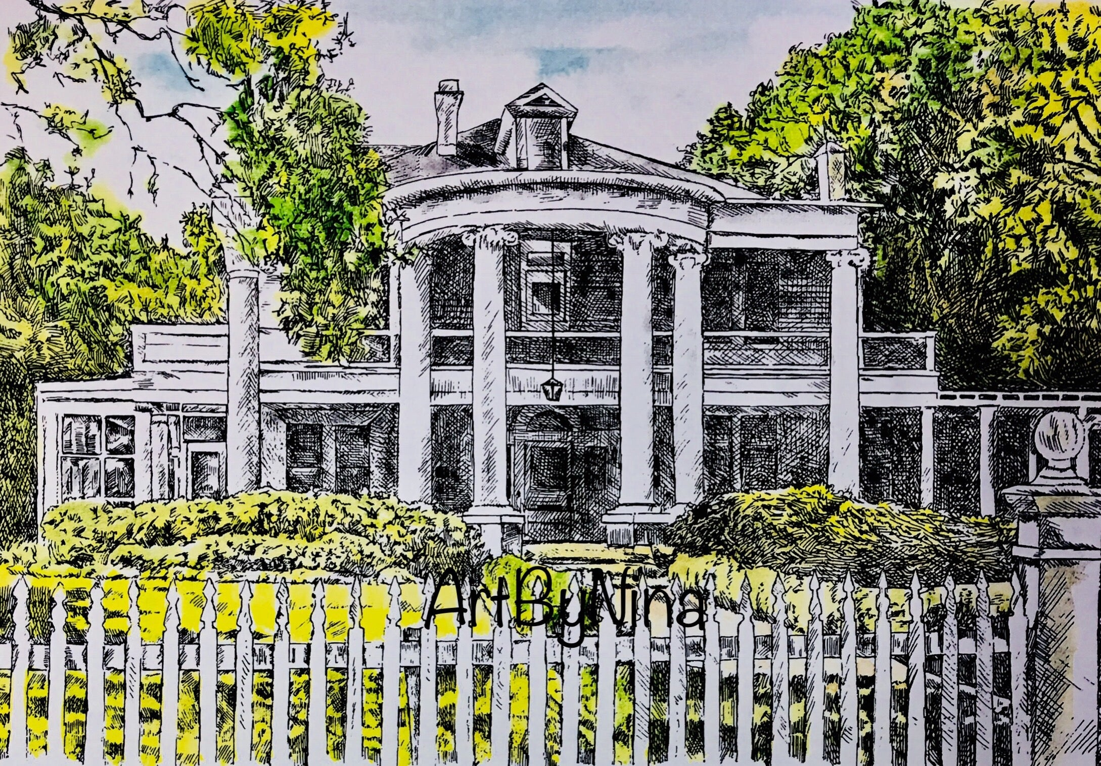 Fort Bend Art - John Moore Home in Richmond #237