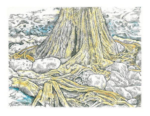 Nature Print - Cypress Roots #079