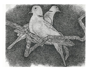 Bird Print - Two Doves #089