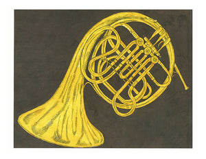 Still Life Print - French Horn #090