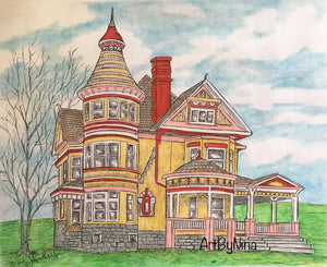 Architecture Print - Golden Victorian #188