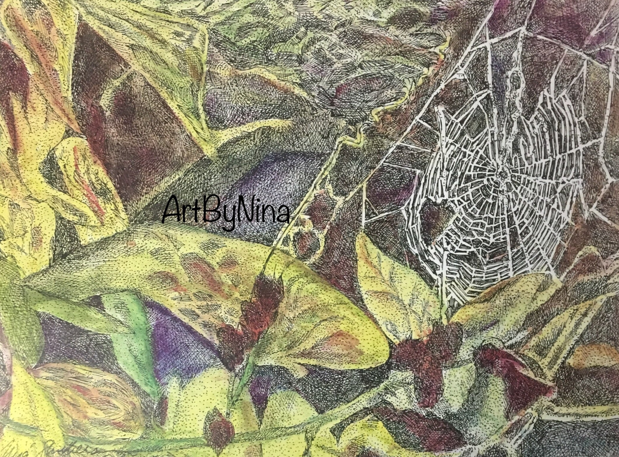 Nature Print - Spider Web #140