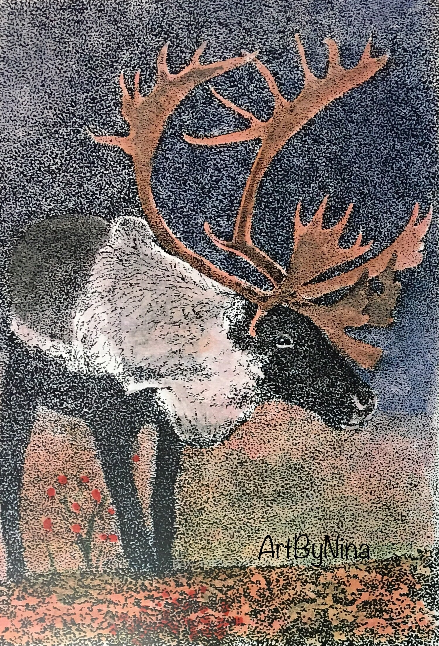 Animal Print - Summer Reindeer #120
