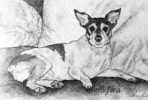 Animal Print - Rat Terrier #211