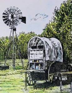 Fort Bend Art - Chuck Wagon at George Ranch #235