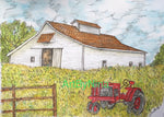 Architecture - White Barn with Tractor #305