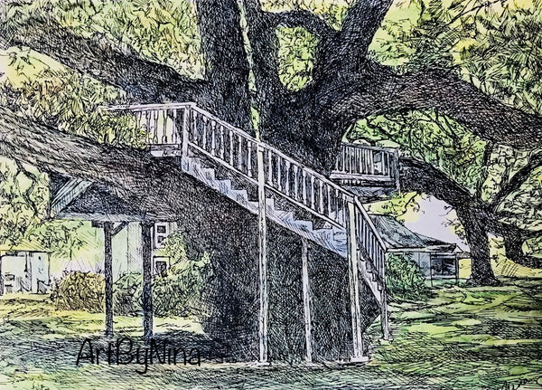 Fort Bend Art - Tree House at George Ranch #239