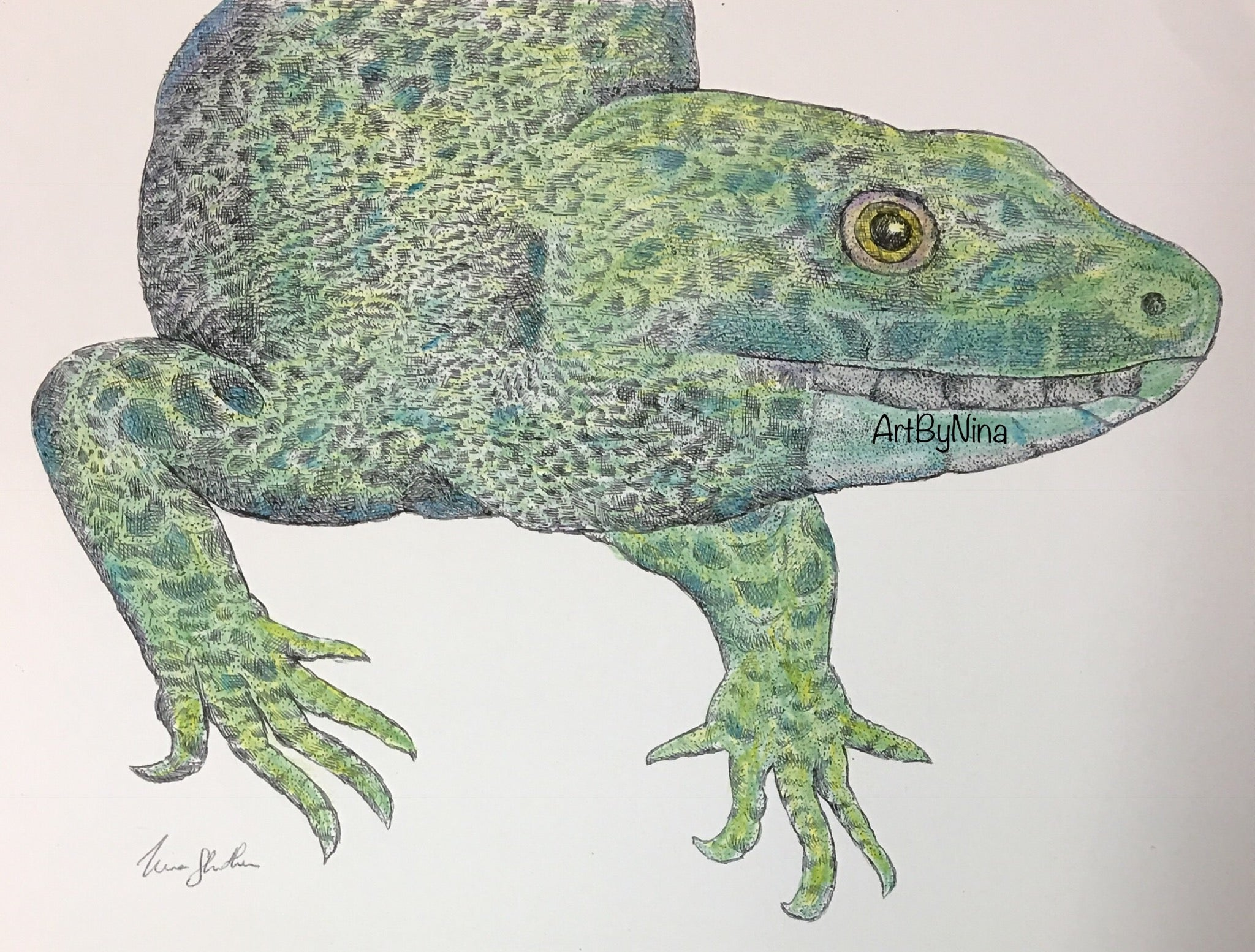 Animal Print - Green Lizard #118