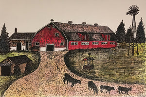 Barn Art - Barn with Cows # 279