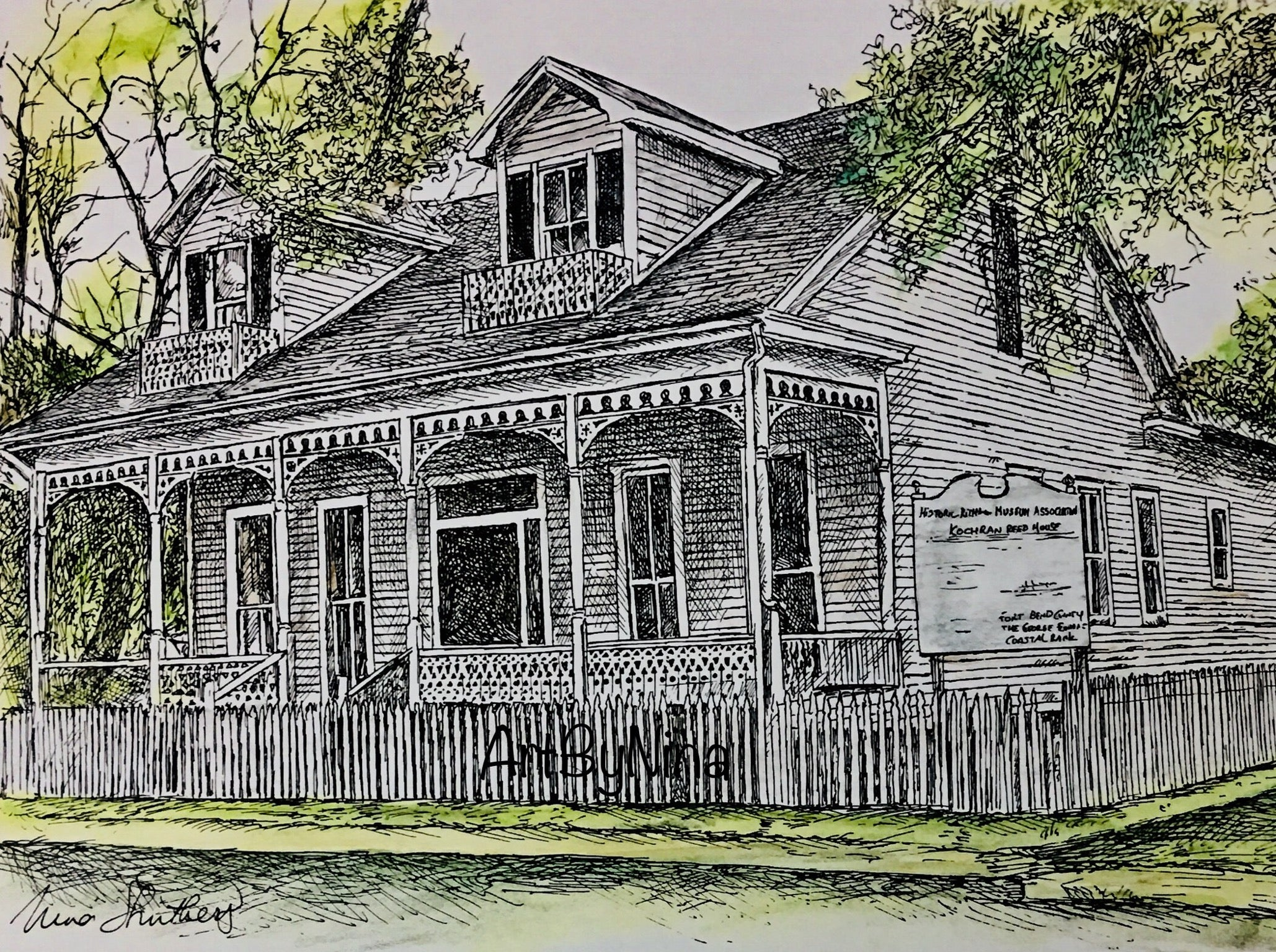 Fort Bend Art - Kochran Reed House, Richmond #256