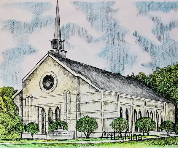 Fort Bend Art - First Baptist Church in Richmond #241