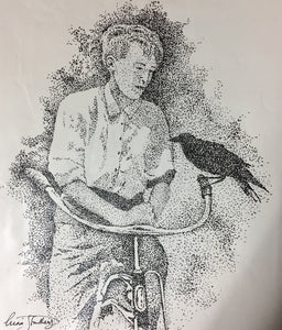 People Print - Boy with Pet Crow #267