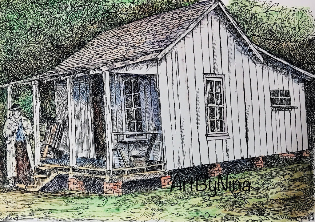 Fort Bend Art - Share Croppers Cabin at George Ranch #243