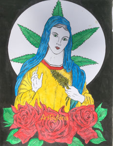 People Art - Marijuana Madonna #301