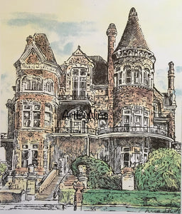 Architecture Print - Bishop's Palace, Galveston #194