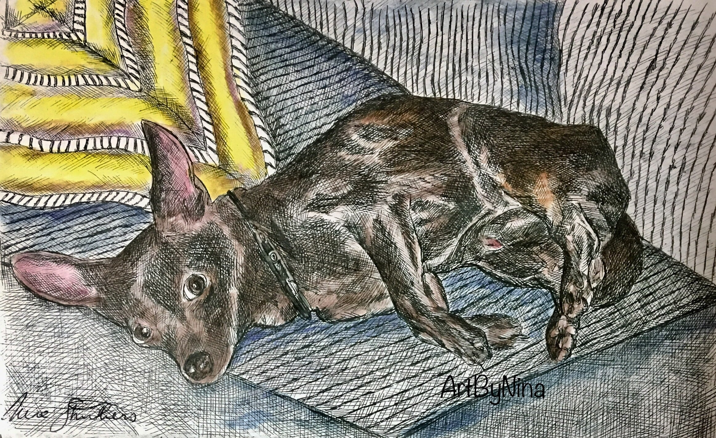 Animal Print - Chocolate Chihuahua #210