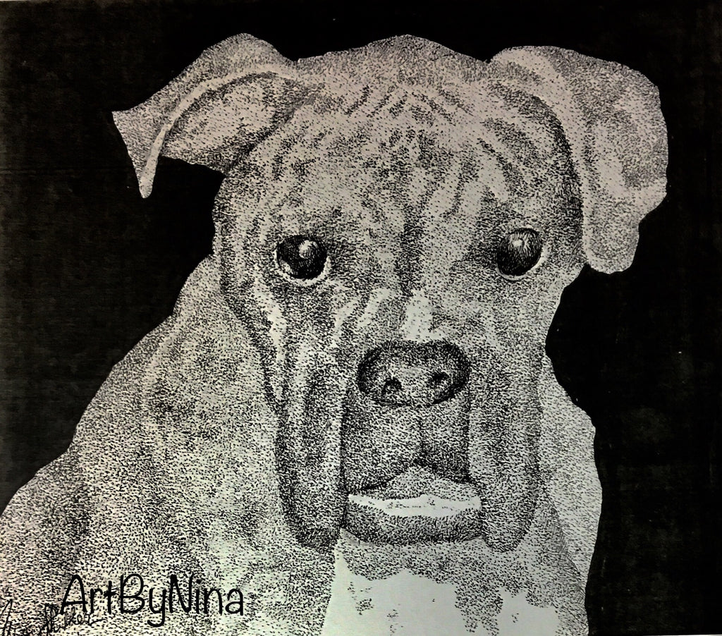 Animal Print - Boxer Dog #114