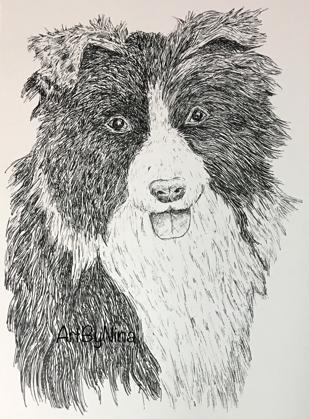 Animal Prints - Border Collie #112
