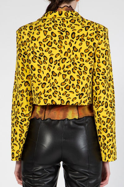 Leopard Crop Jacket