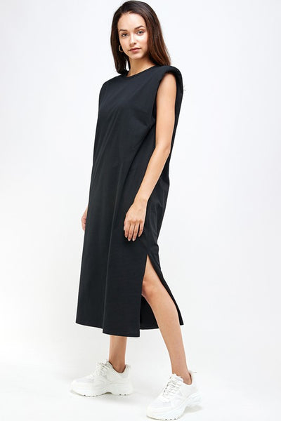 Shoulder Pad  T-Shirt Dress