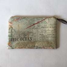 Personalized Travel Pouch, Map Print Zipper Pouch, Great Charger Bag, gift for Frequent Traveler
