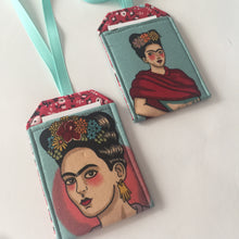 Luggage Tags with Frida Kahlo, Frida Fan Gift, Bag Tags, Luggage Tag Holders