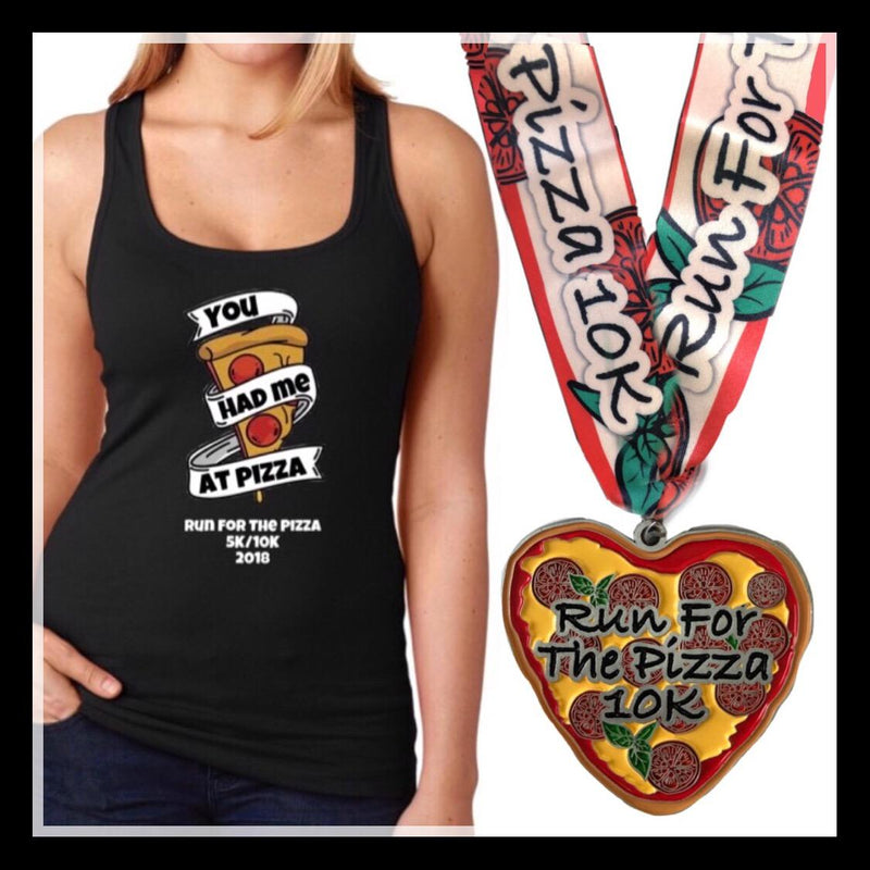 Run For The Pizza Virtual Charity 10K Run, Shirt and Medal