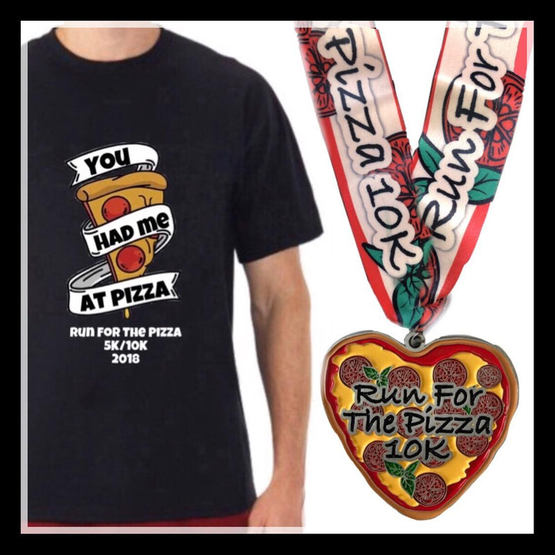 Run For The Pizza 5K Virtual Charity Run, T-Shirt and Medal