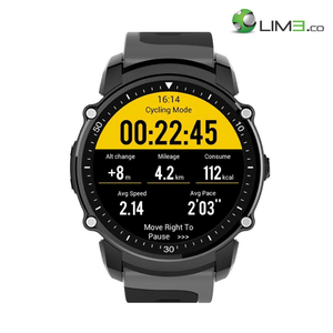 Kingwear FS08 Sports Android 5.0 and IOS Pedometer GPS Waterproof Smartwatch