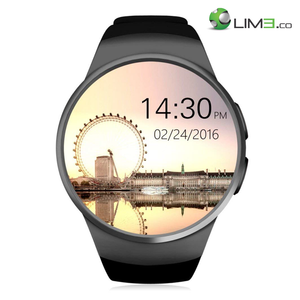Kingwear KW18 Android iOS Compatible SIM/microSD 2G Bluetooth Water Resistant Heart Rate Monitor Smartwatch