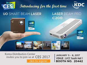 2017 CES Las Vegas Convention Center. Laser Beam Pro is the 2017 CES Award Winner!