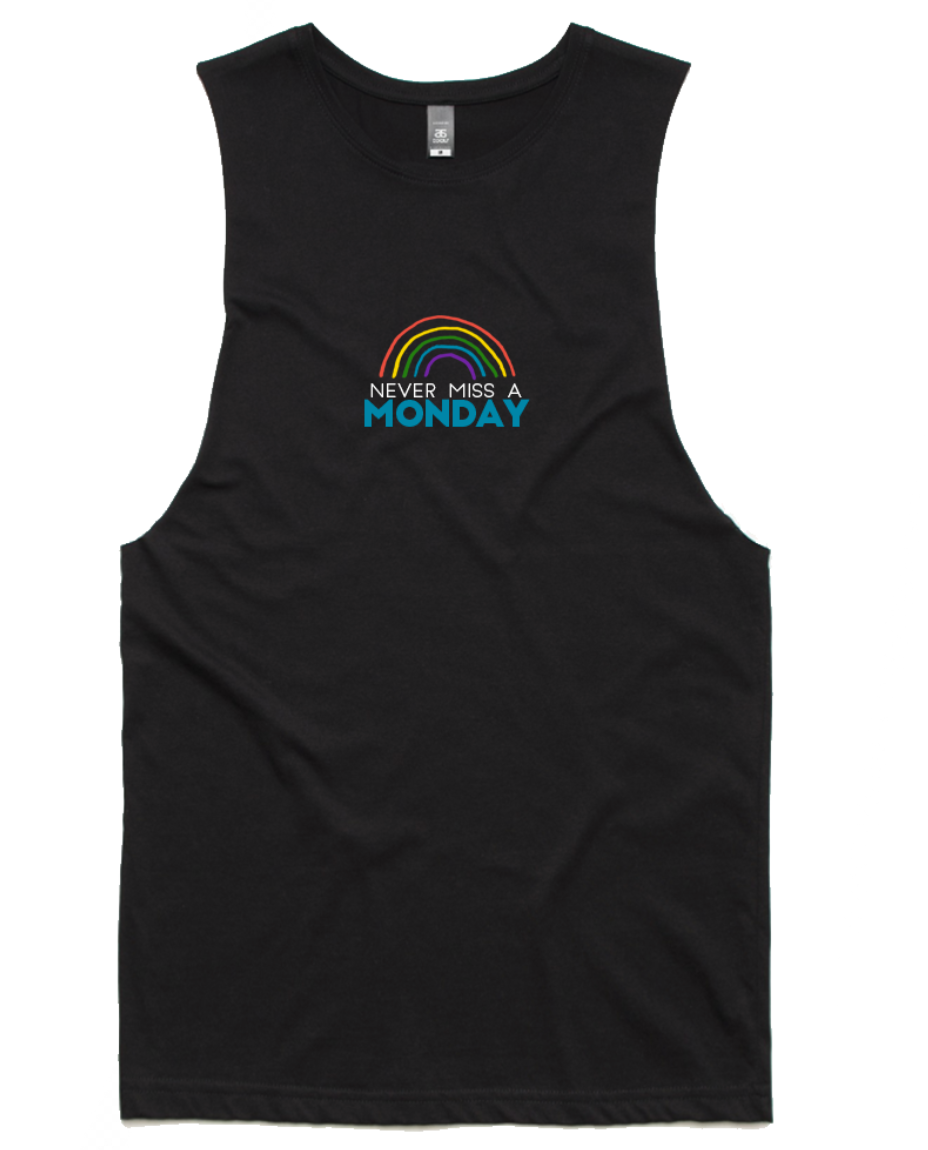 Never Miss a Monday Tank (Black)- Pre Order