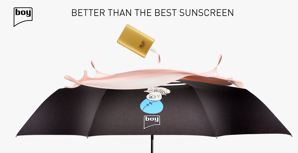 boy® sun protection travel umbrella