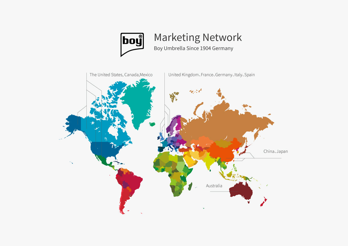 Marketing network of boy®umbrella