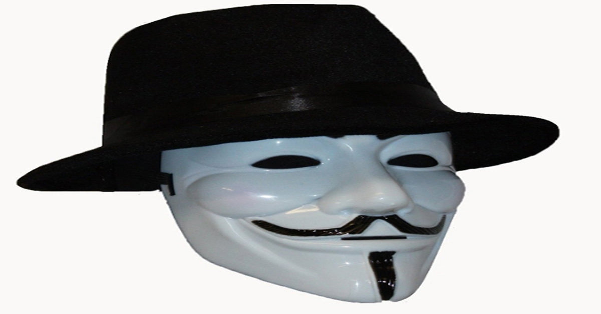 Mask and hat from movie V for Vendetta
