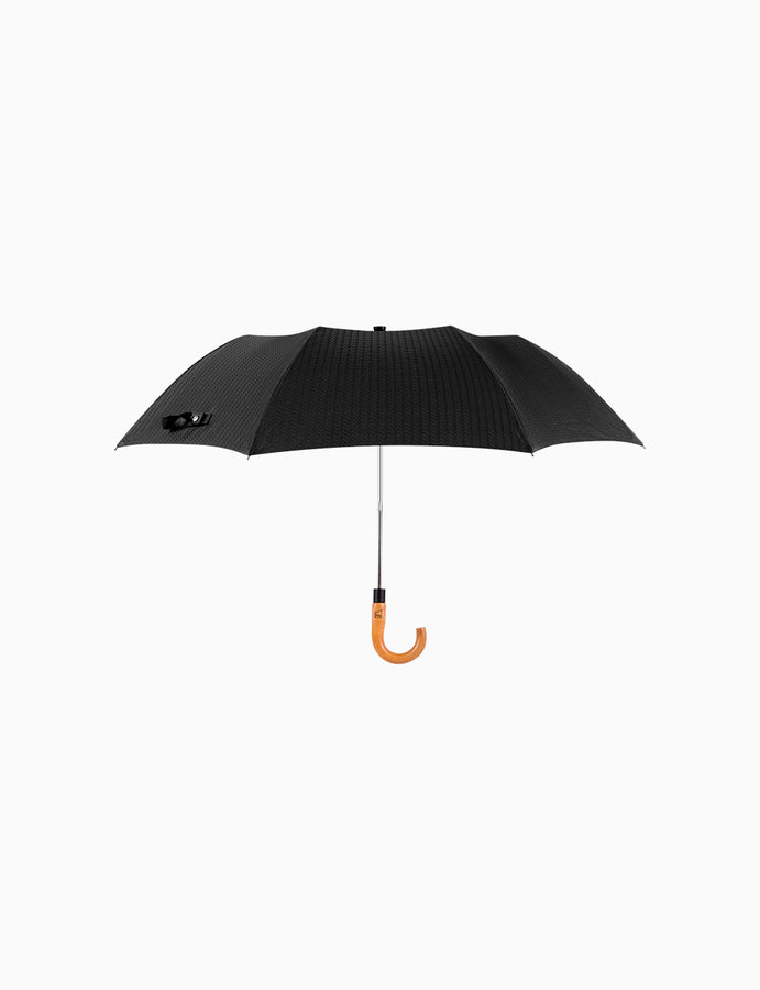 Auto-Open Umbrella Maple Wood