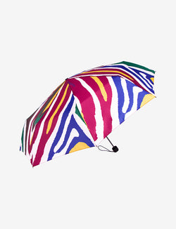 Compact Travel Umbrella Colorful Stripes