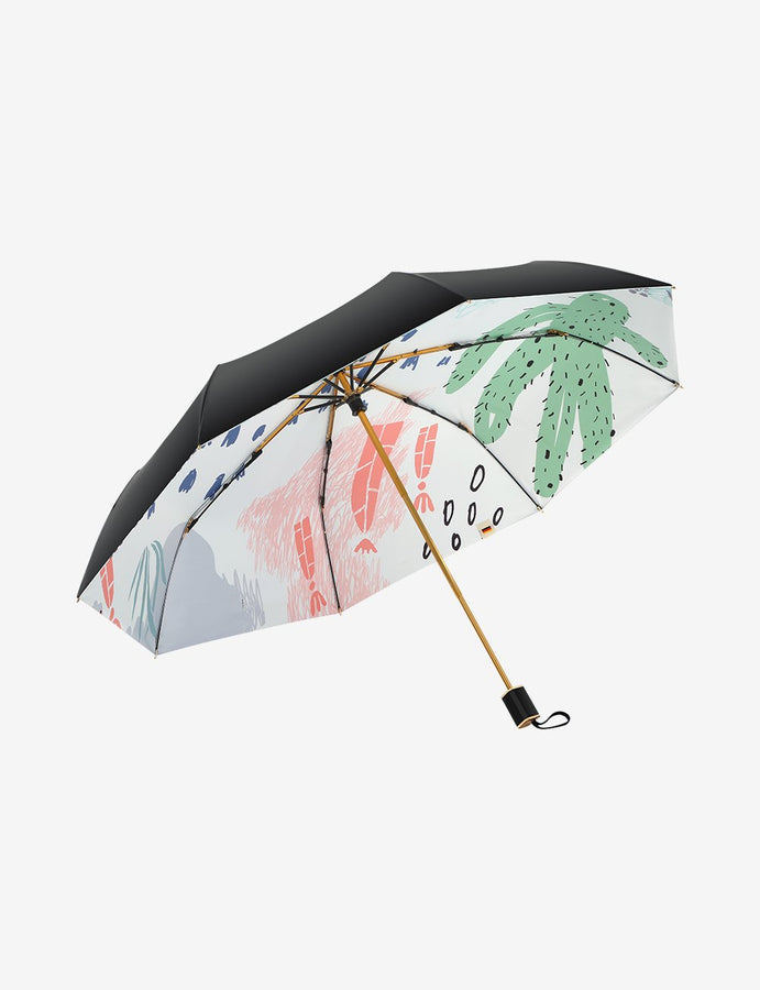 Compact Folding UV Protection Umbrella Spring Wandering