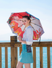 Folding UV Travel Themed Umbrella Lilith