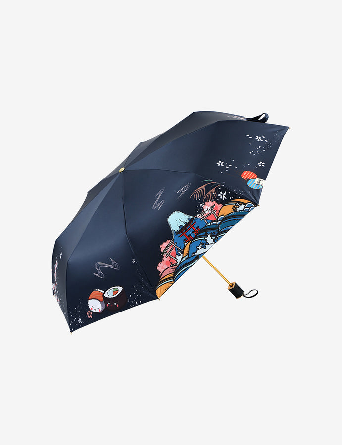 Durable Travel UV Umbrella Japanese Style
