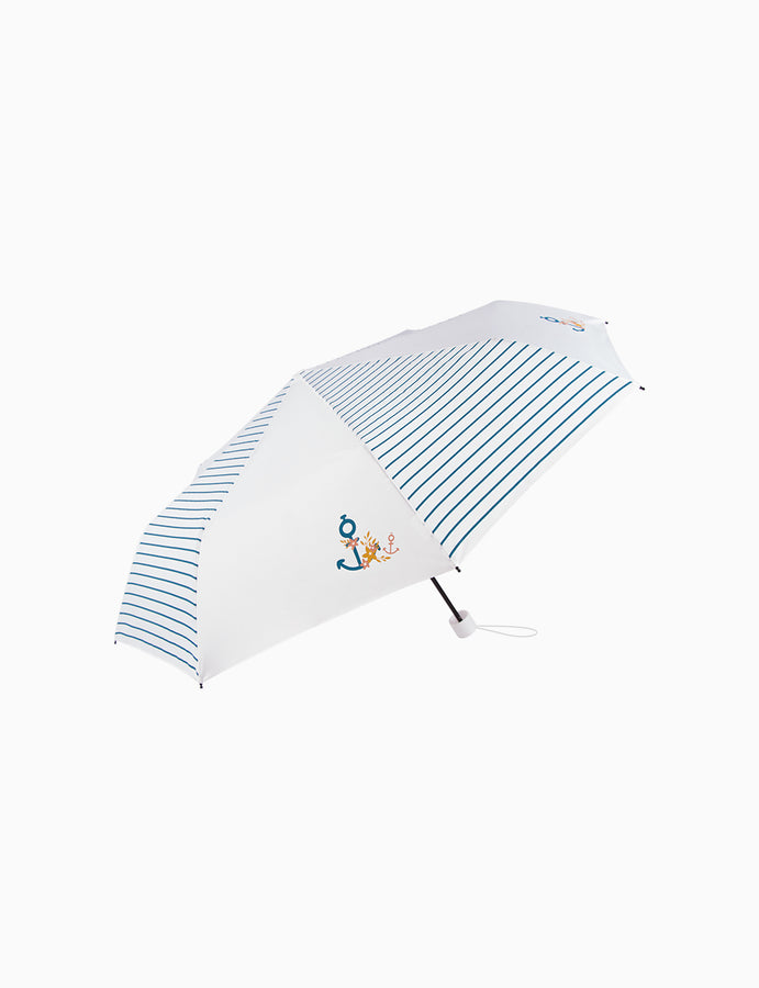 Compact Travel Umbrella Blue Wave