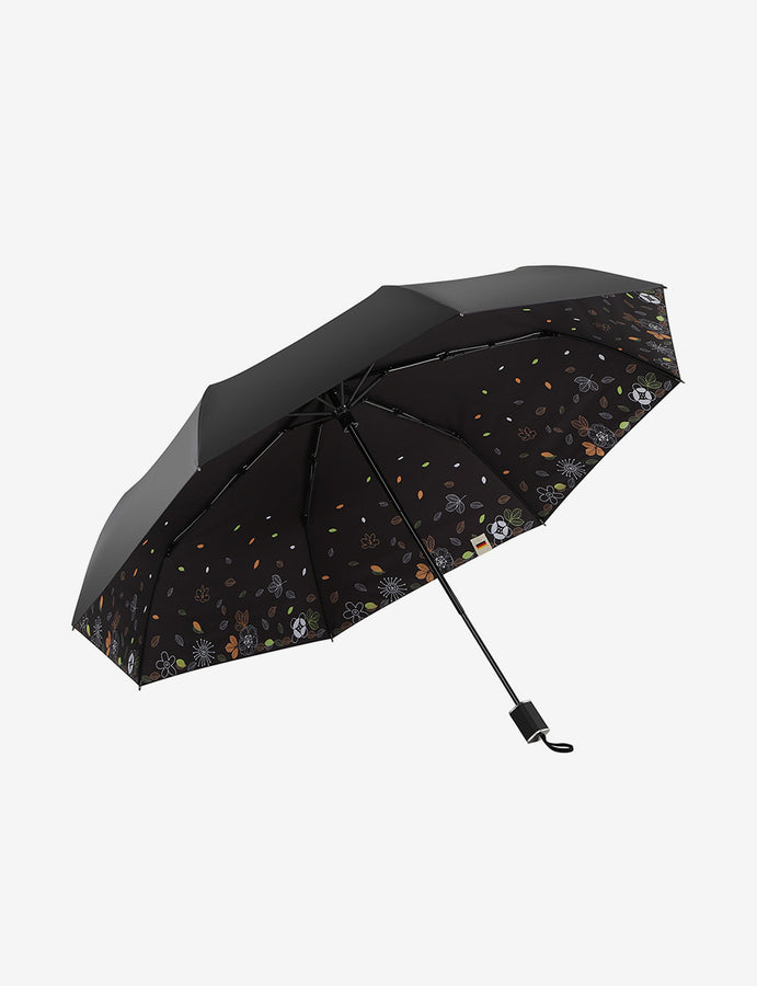 Leaf Printing UV Travel Umbrella