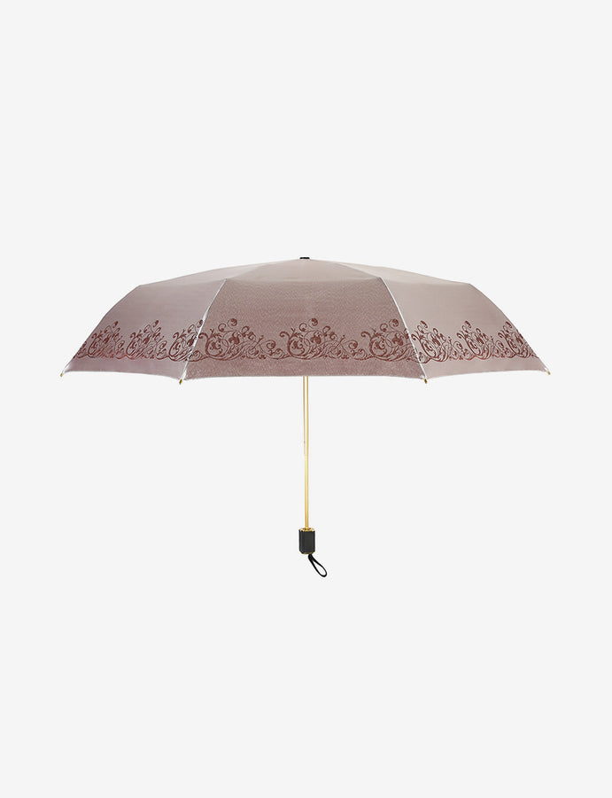 Gold Satin Luxury Design Umbrella