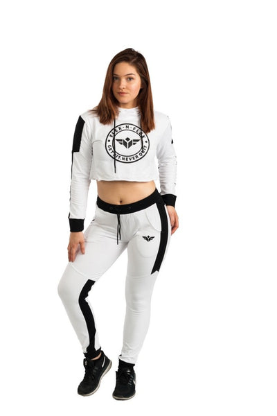 ACTIVE PLUSH CROP HOODIE - FLEX-N-FLEX