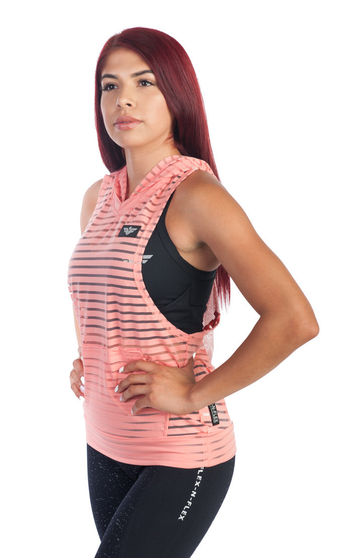 ACTIVE TRAINING SLEEVELESS HOODIE - FLEX-N-FLEX