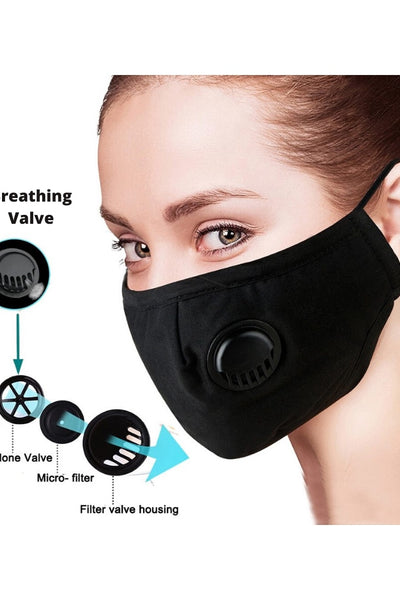 Face Mask With Breathing Valve and Filter