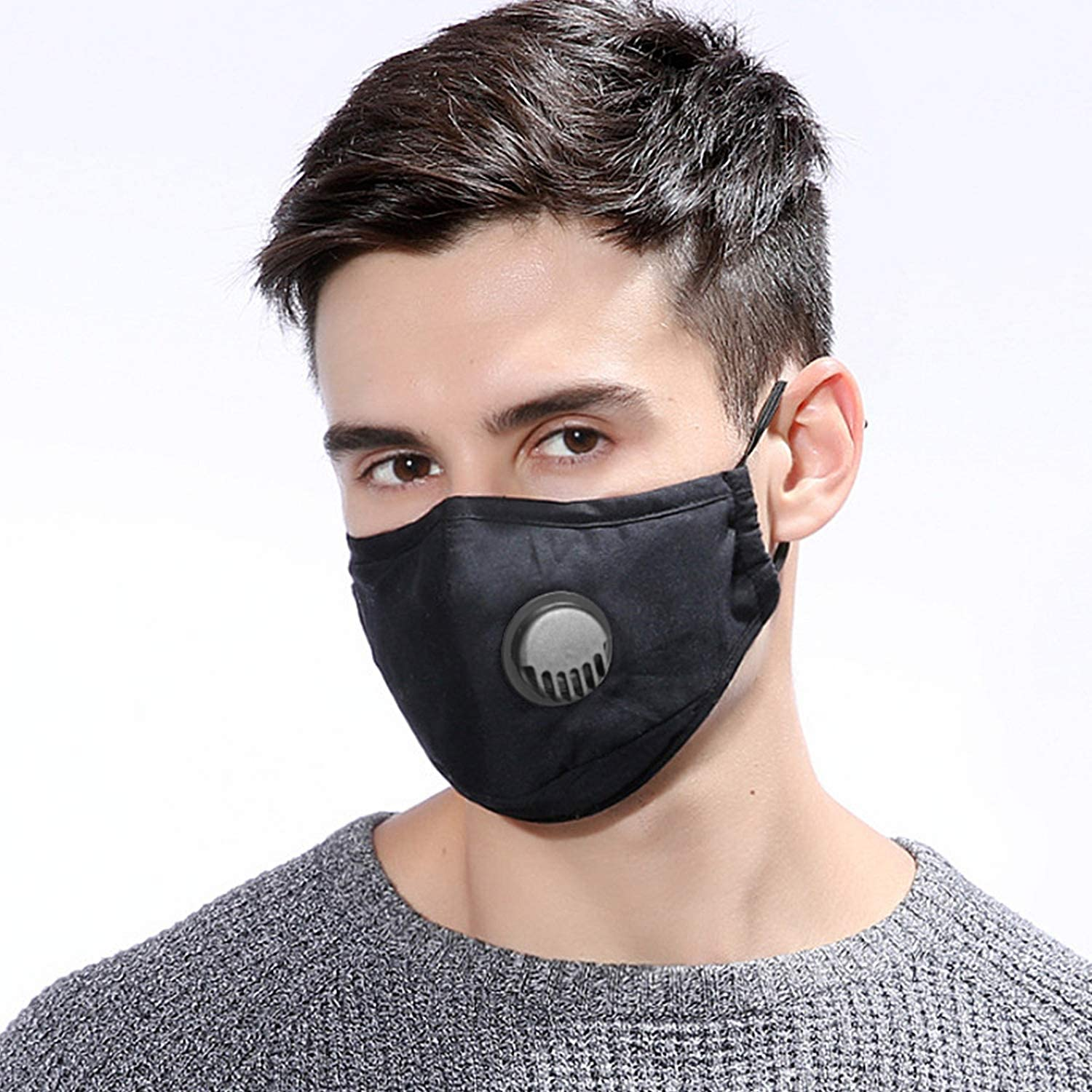 Face Mask With PM 2.5 Filter - Pineapple